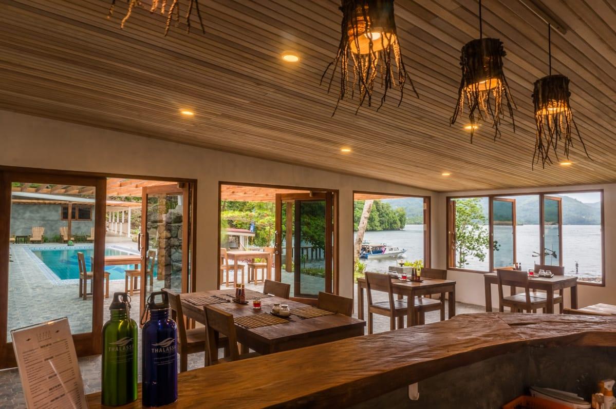 "Restaurant ""Sabar"" view."