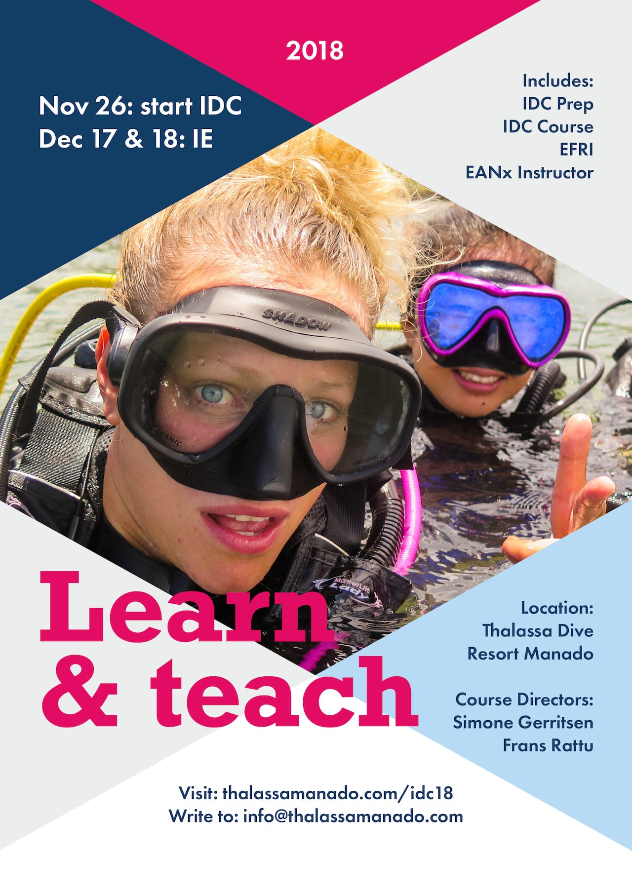 Learn & teach flyer