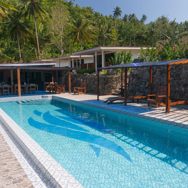 The pool at our resort at Lembeh